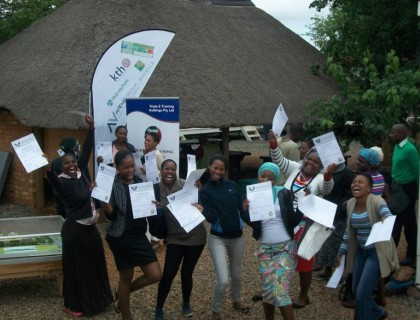 Happiness is achieving full competence in ABET! The Grinaker learners in Atterdigville, receive their ABET certificates from Triple E Training in November 2013.
