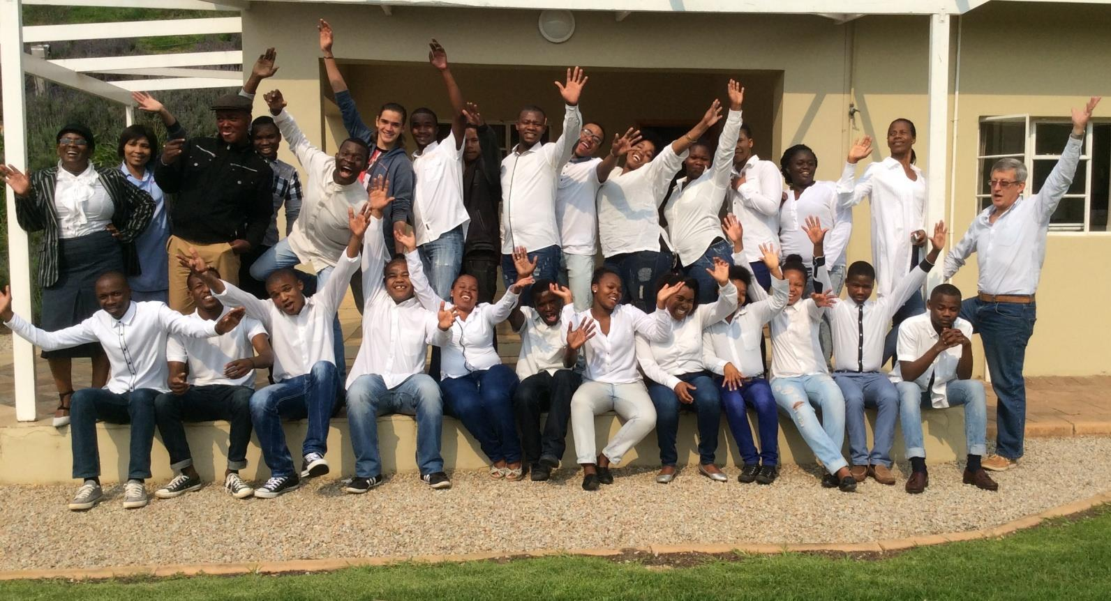 The training done for the unemployed learners of the Komatsu Denron Training Centre