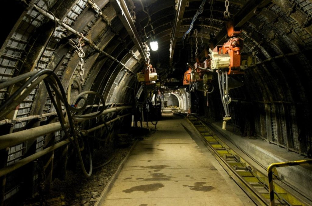 Mining tunnel in South Africa